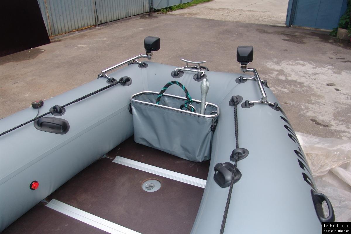 Крепление спиннинга на транец лодки пвх